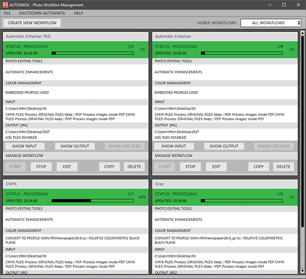 Automata Pro workflows in Action