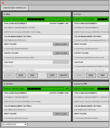 Automata Server hot folder workflows