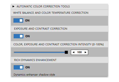 Layer based color correction automata