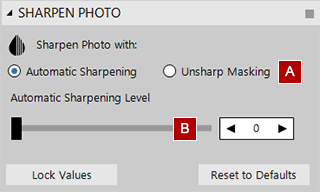 Automatic sharpening