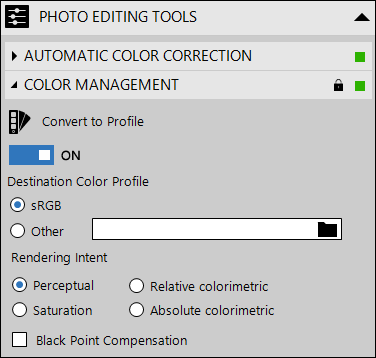 Color Management in PhotoEQ