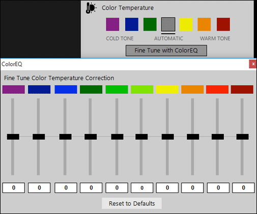 Automatic Color Correction in PhotoEQ