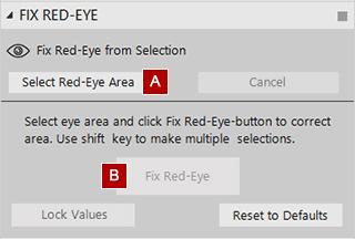 Fix Red-Eye Settings