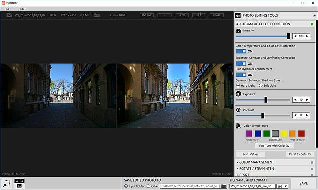 PhotoEQ automatic color correction