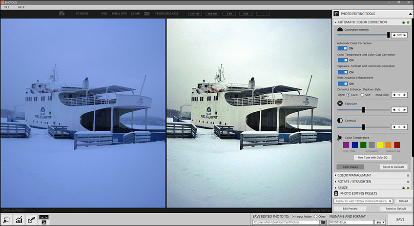 PhotoEQ is the photo editor's perfect assistant